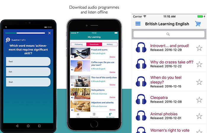 Phần mềm học tiếng anh BBC learning English