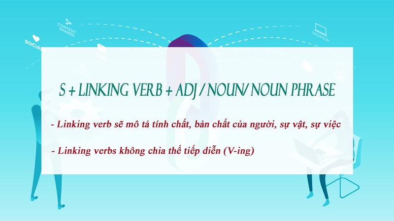 Cấu trúc của linking verb (động từ nối)