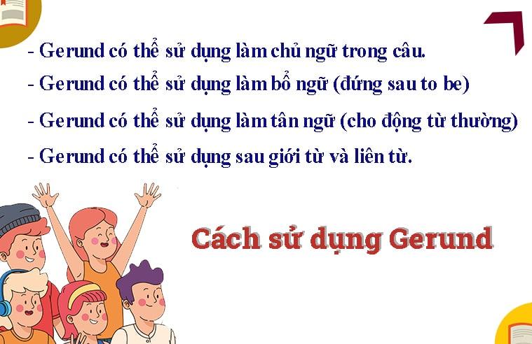 Một số cách dùng Gerund (danh đông từ) trong tiếng anh