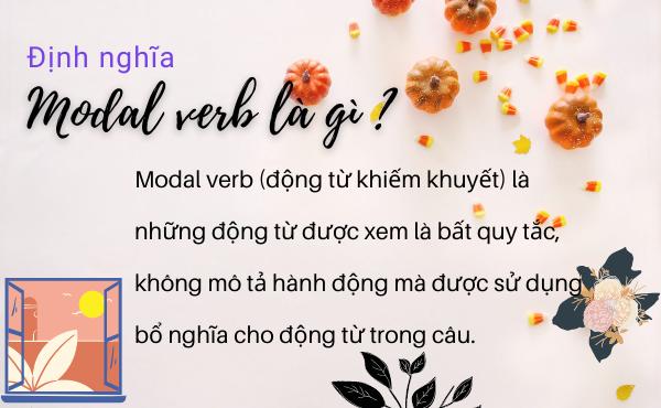 Định nghĩa - modal verb là gì?