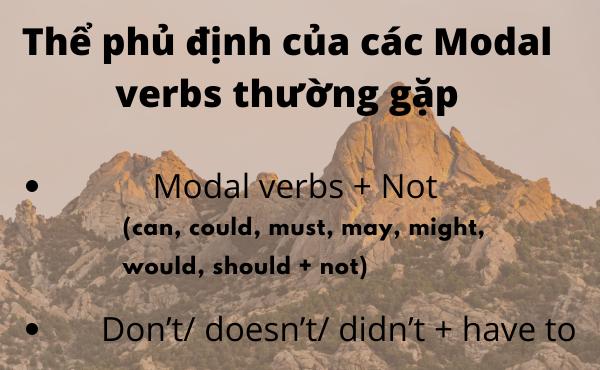 Thể phủ định của modal verbs trong tiếng anh