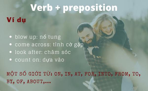 Cấu trúc Verb + preposition