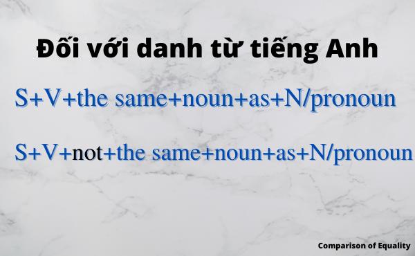 Cấu trúc so sánh bằng với danh từ