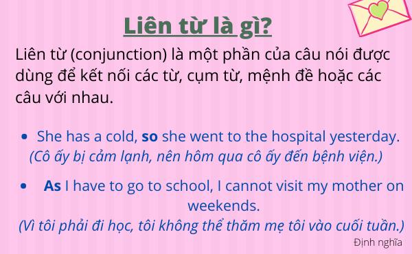 Định nghĩa - Liên từ trong tiếng Anh là gì?