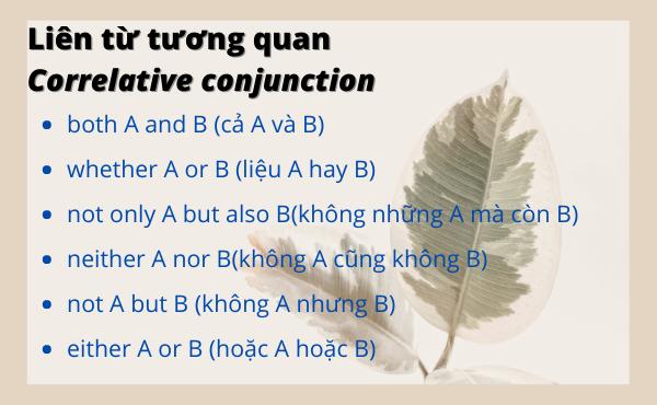 Một số liên từ tương quan - correlative conjunctions