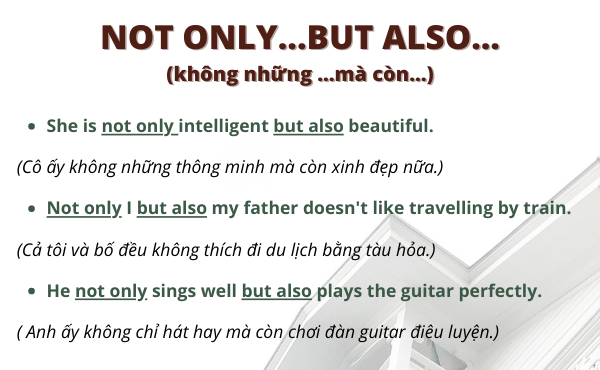 Ví dụ của not only...but also...