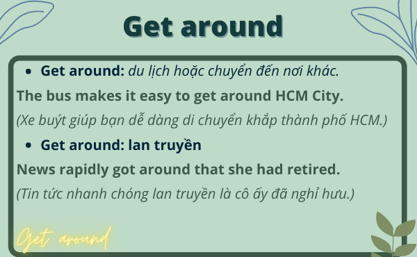 Cách dùng phrasal verb with get around trong tiếng anh