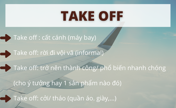 Phrasal verbs with take off