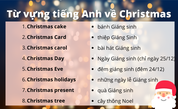 Từ vựng tiếng Anh về Christmas