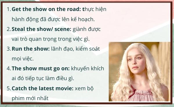 Idioms - Cụm từ vựng tiếng Anh Movie đắt giá