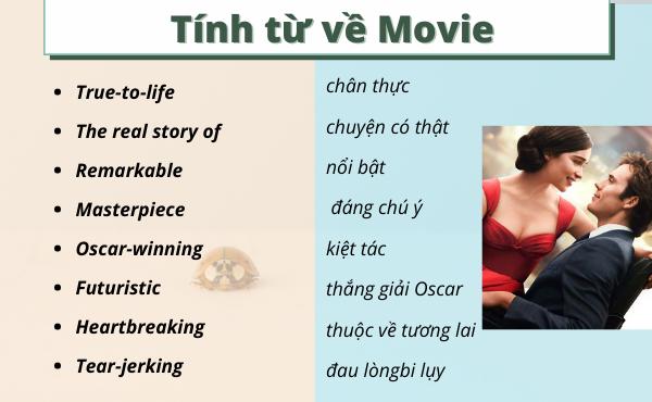 Tính từ tiếng Anh dùng mô tả bộ phim