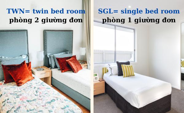 Các loại phòng trong khách sạn bằng tiếng Anh