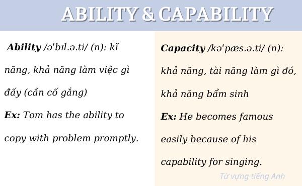 Khác biệt giữa ability và capability
