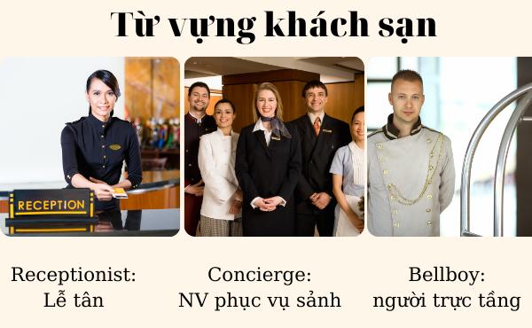 Từ vựng về nhân viên trong khách sạn