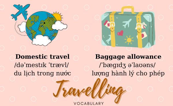 Từ vựng tiếng Anh du lịch thường gặp