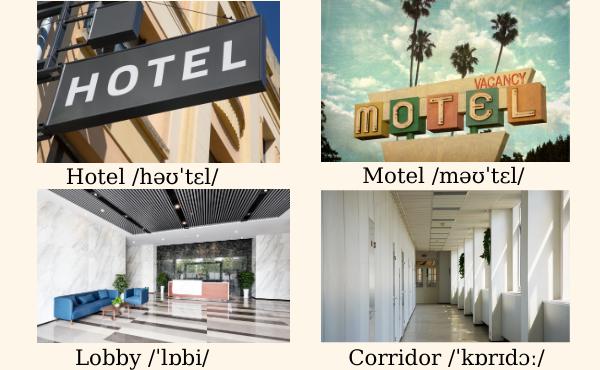 Từ vựng về khách sạn cơ bản