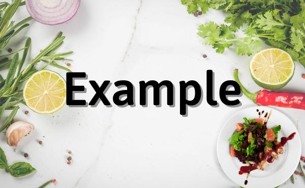 Ví dụ tham khảo cho các tính từ miêu tả món ăn