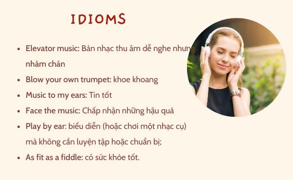 Một số idiom liên quan đến âm nhạc