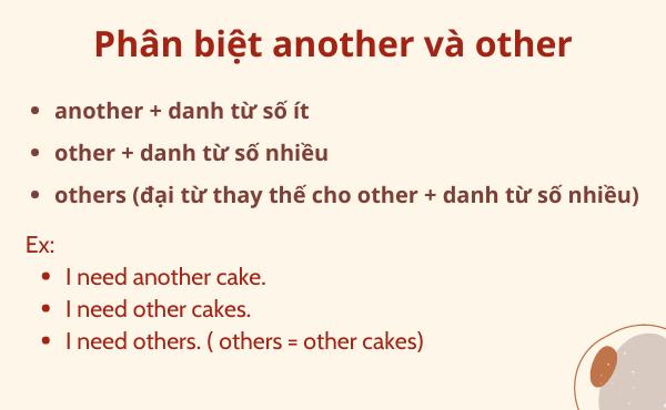 Phân biệt another và other trong tiếng Anh