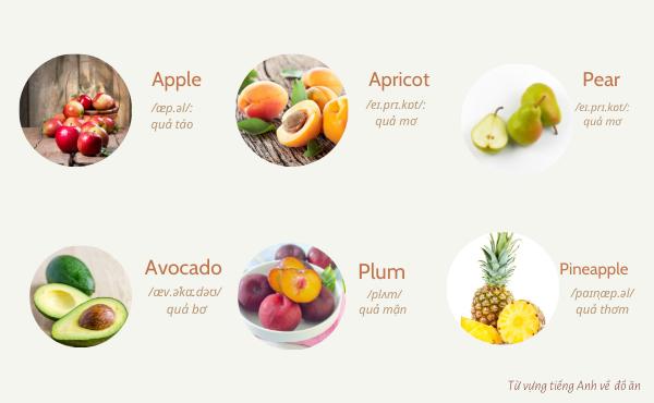 Từ vựng về trái cây