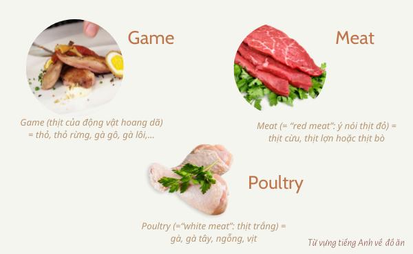Từ vựng về các loại thịt